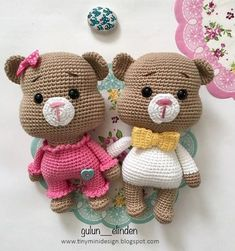 In this article we will share the amigurumi teddy bear free crochet pattern. You can find everything you want about Amigurumi. Crochet Teddy Bear Pattern, Crochet Doll Pattern, Crochet Patterns Amigurumi, Crochet Dolls, Mini Amigurumi, Crochet Amigurumi, Amigurumi Doll, Diy Teddy Bear, Teddy Bears