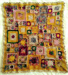 Meghanaf's, Baby Babette Inspiration, I want to make something similar. Crochet Cushion Cover, Crochet Cushions, Baby Blanket Crochet, Crochet Baby, Granny Square Crochet Pattern, Afghan Crochet Patterns, Crochet Motif, Plaid Crochet, Love Crochet