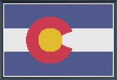 Cross Stitch Kit  Colorado Flag Gift for by KaitsCraftingCorner, $15.00