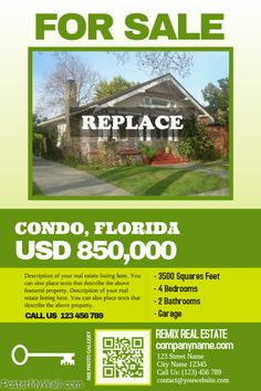 Very clean real estate flyer with a big photo and big texts http://www.postermywall.com/index.php/poster/view/697958bd1e44711e73624c1bd0dfdd1c