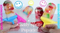 Candy Sprite POPSICLES  ❤ GUMMY BEARS WORMS & LIFESAVERS ❤ Easy Fun Video