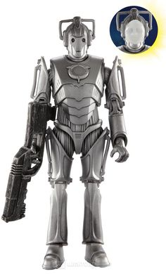 @Jo Roberts  - plushie idea #1001 ;) - Doctor Who Cyberman with Flesh Mask Action Figure (2011 Wave 2) images, image 3 of 3