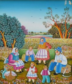 Markov (©2010 artmajeur.com/loadingartgallery) ROZALIJA MARKOV (1956-)    Member of the Kovacica Naïve Art Gallery    ONE OF THE GREATEST REPRESENTATIVE OF KOVACICA SCHOOL OF NAIVE ART   Kovacica is one of the most famous Slovak communities abroad. Most of its inhabitants still speak Slovak, wear traditional folk costumes, and celebrate typical folk events. They have captured these traditions in their pictures, which have traveled the world and can be found in the private collections of…