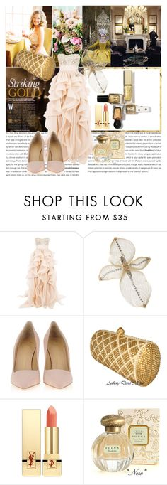 """""""Like a princess ;)"""" by zerka-749 ❤ liked on Polyvore featuring Ralph Lauren Home, Reem Acra, Colette Malouf, Giuseppe Zanotti, Yves Saint Laurent and Tocca"""
