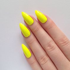 Neon Yellow Stiletto nails, Nail designs, Nail art, Nails, Stiletto... ($19) ❤ liked on Polyvore featuring beauty products, nail care, nail treatments, nails, makeup and unhas