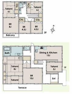 Nice-Traditional-Japanese-House-Floor-Plan-In-Fujisawa