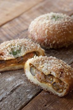 Japanese Curry Bun, Crispy-fried Bread Filled with Curry. Popular Snack in Japan