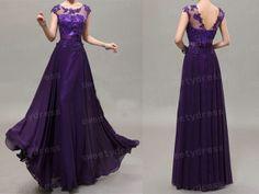 Lace Prom Dress 2014 Purple Prom Dress Long Evening by sweetydress, $145.00