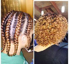 Braid out on natural hair Natural Hair Journey, Natural Hair Growth, Natural Curls, Braid Out Natural Hair, Braid Hair, Flat Twist, Cute Hairstyles, Braided Hairstyles, Black Hairstyles