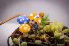 A personal favorite from my Etsy shop https://www.etsy.com/listing/221889878/terrarium-mushroom-set-with-ladybug