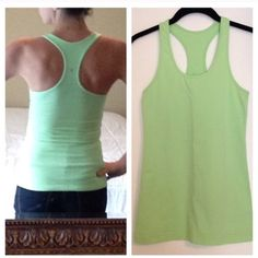 Lululemon Tank  LOWEST PRICE bought from another Posher. Light green in color in great condition. Smoke free home. Worn once since I have purchased it. lululemon athletica Tops Tank Tops
