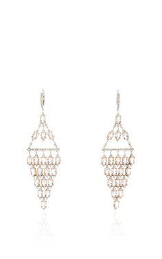 Morganite And Diamond Drop Earrings by GIOIA for Preorder on Moda Operandi