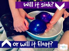 Will it sink or will it float? A simple and accessible science experiment for kids who are blind or visually impaired.