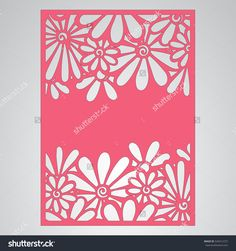 Cutout Silhouette With Botanical Pattern. Filigree Lea ves For Paper Cutting. Стоковое векторное изображение 540312727 : Shutterstock