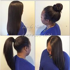 Is YOUR sew-in this versatile??? If not, come see me! ---PERFECT PONY SEW-IN HAIR WEAVES by Natalie B. (312) 273-8693...IG: @icartistry ...FACEBOOK: Inner Circle Artistry...ORDER HAIR: www.naturalgirlhair.com.