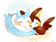 Pokémon : Pachirisu and Emolga