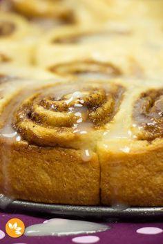 Receita de Cinnamon Rolls - Recheio apenas com 3 ingredientes.