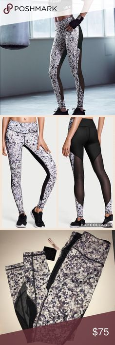 Victoria Secret Knockout Tights 2016 fashion show NWT! Knockout Tights 2016 Victoria's Secret Fashion show. These were limited edition and completely sold out online!! Star ⭐️ design on the front and the back is black and has cut out mesh. Hidden pocket and drawstring. Victoria's Secret Pants Leggings