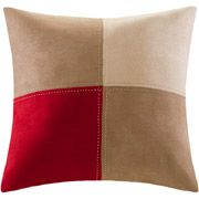Mainstays Boulder Stripe Square Pillow, Red/Brown (Throw pillow for the couch.)