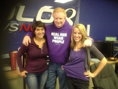 Everyone now and then, a bunch of us show up wearing the same color. Today at KOLO8 News Now, the color is purple!
