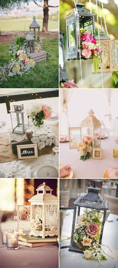 Creative Ideas to add Vintage Charm to Your Wedding Decorations awesome lantern vintage wedding decor ideas More from my Creative DIY Wedding Table Number Ideas 51 Creative DIY Wedding Table Number Ideas 51 Creative DIY Wedding Table Number Ideas Budget Wedding Centerpieces, Lantern Centerpiece Wedding, Wedding Decorations On A Budget, Vintage Decoration Wedding, Weddings On A Budget, Centerpiece Flowers, Vintage Wedding Theme, Roses Photography, Deco Champetre