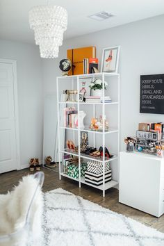Office Reveal & Makeover - Uptown with Elly Brown Office Interior Design, Office Interiors, White Office Decor, Woman Cave, Lady Cave, Home Decor Inspiration, Decor Ideas, Office Furniture, Bedroom Decor