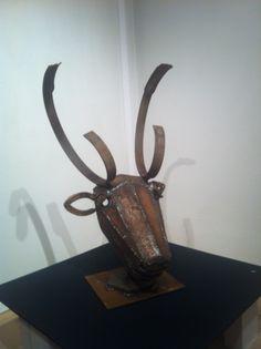 Rudolf Junk Art, Welding Art, Metal Art, Table Lamp, Home Decor, Lamp Table, Metal Yard Art, Interior Design, Home Interior Design