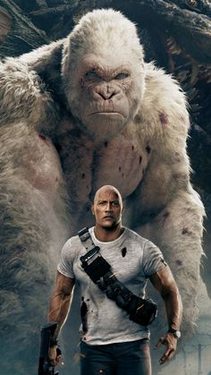 Rampage, movie, wolf, gorilla, 4k, 720x1280 wallpaper