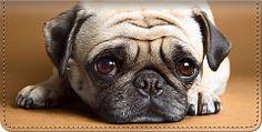 Faithful Friends Pug checkbook cover and matching personal checks ~ http://pugpersonalchecks.com/pugchecks-05.shtml