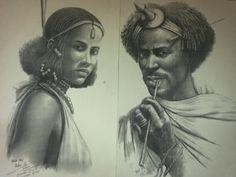 Oromo woman and man.