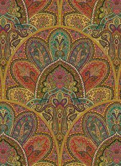"Zulaika in Tourmaline by Iman Home Fabrics - $34.99/yd - jewel tone paisley fabric - vertical repeat 25.25"", 54"" wide"