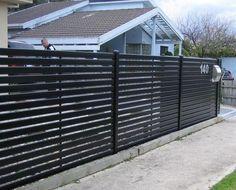 Metal Privacy Fence With Horizontal Slat Fencing,Aluminium Slat Screens,Slat Fencing Melbourne