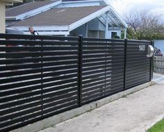 Layout Metal Fence Ideas 12 Steel Fence Designs Steel Slat Front Fence