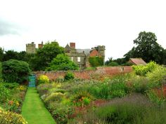 Croft Castle Garden. Herefordshire. England. Croft castle was built in the late fourteenth century by Richard Croft.