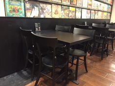 #實木餐椅與餐桌-誠品blackpages café 中友店