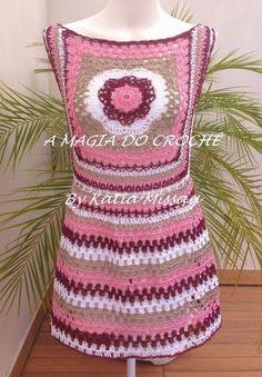Crochet Poncho, Crochet Granny, Crochet Stitches, Free Crochet, Knit Crochet, Crochet Patterns, Crochet Summer Dresses, Hippie Crochet, Crochet For Boys