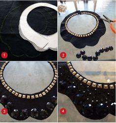 Olá meninass!! Hoje vou ensinar o passo a passo de como fazer seu próprio maxi colar! Não é o máximo?! Os Maxi colares além de dar um up n...