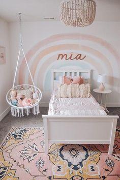 Big Girl Bedrooms, Little Girl Rooms, Shared Bedrooms, Boy Rooms, Baby Room Decor, Nursery Room, Nursery Name, Girl Bedroom Designs, Girls Bedroom Decorating