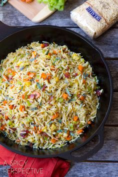 Orzo Stuffing Recipe - Just the thing to add a little oomph to #Thanksgiving! #stuffing #pasta #recipe