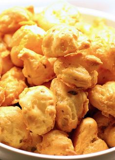 Green Chile Cheese Puffs. A recipe to use some of the roasted Hatch Green Chile.