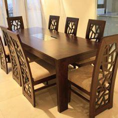Unique Furniture - Just Antiques Unique Furniture - Just Antiques Wooden Dining Table Modern, Dinning Table Design, Dining Room Furniture Design, 6 Seater Dining Table, Glass Dining Room Table, Dinning Set, Dinning Chairs, Wooden Dining Tables, Unique Furniture