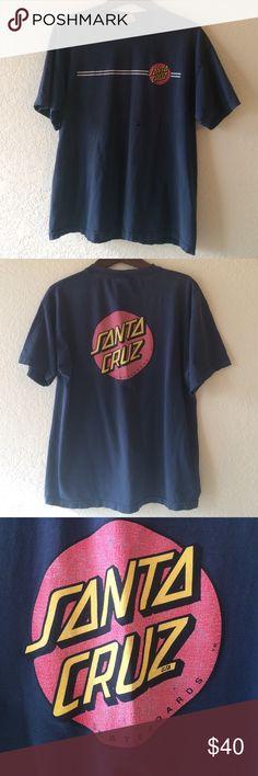 SANTA CRUZ SKATE TEE SIZE XL Super rad vintage skate tee. SANTA CRUZ. SIZE XL. Some holes and natural distressing from age not hand. MAKE ME AN OFFER Santa Cruz Shirts Tees - Short Sleeve