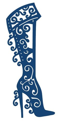 Tattered Lace Christmas Boot Die, now available at Top Dog Dies. Silhouette Cameo, Silhouette Images, Silhouette Portrait, Silhouette Projects, Kirigami, Silhouettes, Cuadros Diy, Tattered Lace Cards, Boot Toppers