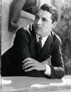 Cary Grant was incredibly handsome, and never let his guard down - he was always impeccable, with every hair in place, and dressed beautiful...