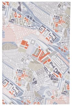 Kitchen towel...the architect in me likes this!  Reminds me of urban planning in college.