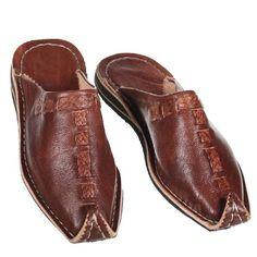 Marokkanischer Lederschuh Babouches unisex Pantoffel Aladin mocca Gr.37-46 (43) orientalische Schuhe
