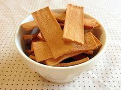 「高野豆腐de☆パリ!ポリ!紅茶ラスク」【高野豆腐】ダイエット中にはうれしい\(^∇^)/全部食べても約128.8kcalです。お腹の中で高野豆腐が膨らむので、飲み物と一緒に食べてお腹いっぱい!【楽天レシピ】
