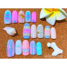 WEBSTA @ alohaaya26 - ベビーカラーのシンプルなデザイン**#世界一難しい恋 がオモロすぎるー早く続きがみたいー‼︎久々ドラマにハマった**#ネイル#nail#nails#nailart#beach#surf#wave#starfish#shell#シェル#ヒトデ#マットコート#sea#海