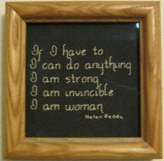 I Am Woman Counted Cross Stitch