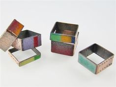 Colorful Copper: Make Square Rings Using Enamel or Resin and Hardware-Store Copper Pipe - Jewelry Making Daily - Blogs (by Laurel Nathanson)